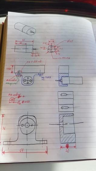 Concept sketch of motor bracket